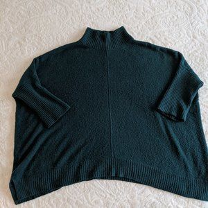 LOFT Outlet Dark Teal Sweater Poncho - LP